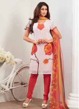 Digital Print Work  Churidar Punjabi Salwar Kameez