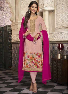 Digital Print Work Churidar Salwar Suit