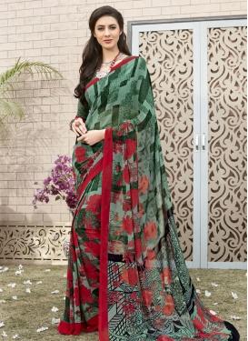 Digital Print Work Classic Saree