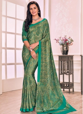 Digital Print Work Classic Saree For Casual