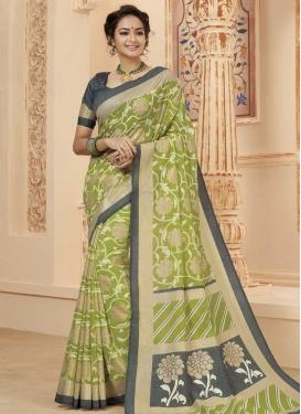 Digital Print Work Classic Saree For Ceremonial