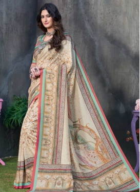 Digital Print Work Classic Saree For Festival