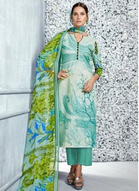 Digital Print Work Cotton Pant Style Pakistani Salwar Kameez