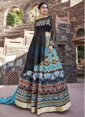 Digital Print Work Designer Long Choli Lehenga