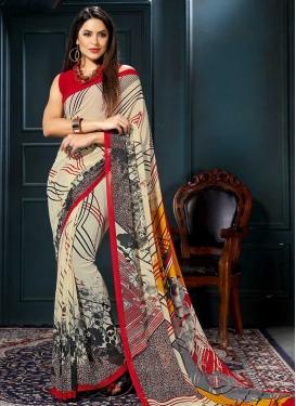 Digital Print Work Designer Traditional Saree