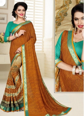 Digital Print Work Half N Half Designer Saree For Ceremonial