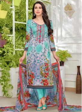 Digital Print Work Karisma Kapoor Pant Style Straight Salwar Suit