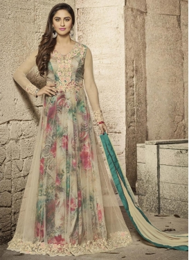 Digital Print Work Krystle Dsouza Long Length Designer Suit