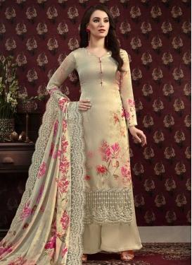 Digital Print Work Palazzo Style Pakistani Salwar Suit For Ceremonial