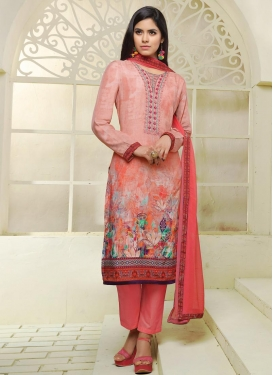 Digital Print Work Pant Style Classic Salwar Suit For Ceremonial