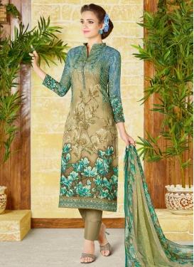 Digital Print Work Pant Style Pakistani Salwar Kameez