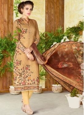 Digital Print Work Pant Style Pakistani Salwar Suit For Festival