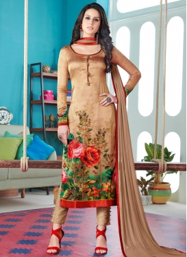 Digital Print Work Pant Style Pakistani Suit