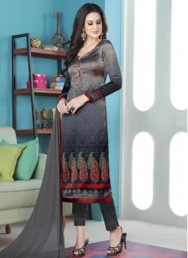 Digital Print Work Pant Style Straight Salwar Kameez
