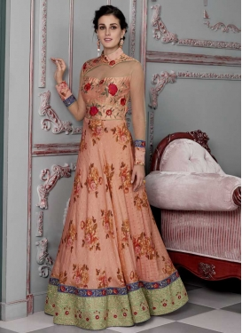 Digital Print Work Readymade Trendy Gown For Festival