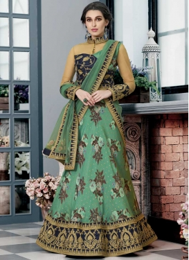 Digital Print Work Silk Trendy Lehenga
