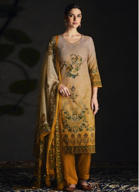 Digital Print Work Straight Pakistani Salwar Kameez