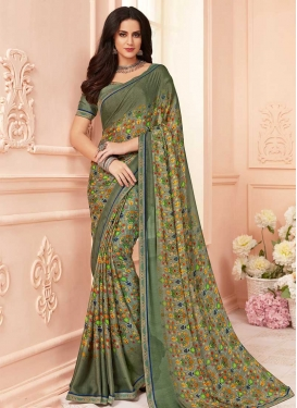 Digital Print Work Traditional Saree