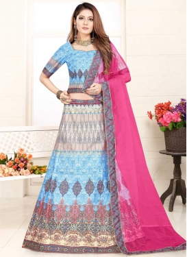 Digital Print Work Trendy A Line Lehenga Choli