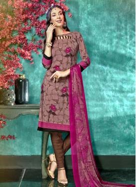 Digital Print Work Trendy Churidar Salwar Kameez