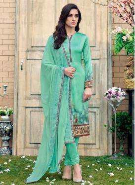 Digital Print Work Trendy Churidar Salwar Suit