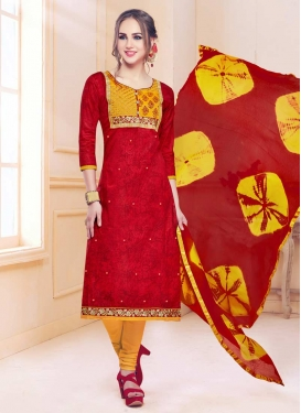 Digital Print Work Trendy Churidar Salwar Suit