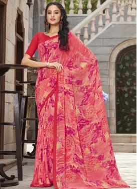 Digital Print Work Trendy Classic Saree For Casual