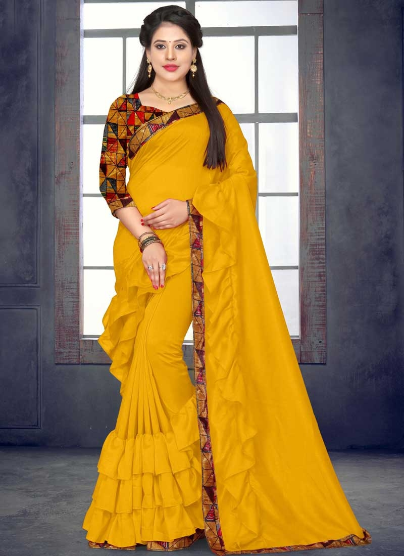 Digital Print Work Trendy Designer Saree