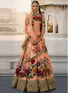 Digital Print Work Trendy Lehenga Choli