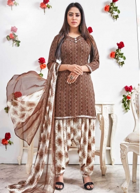Digital Print Work Trendy Patiala Salwar Suit