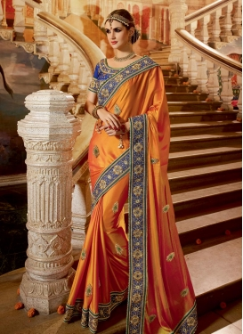Dignified Beads Work  Designer Traditional Saree