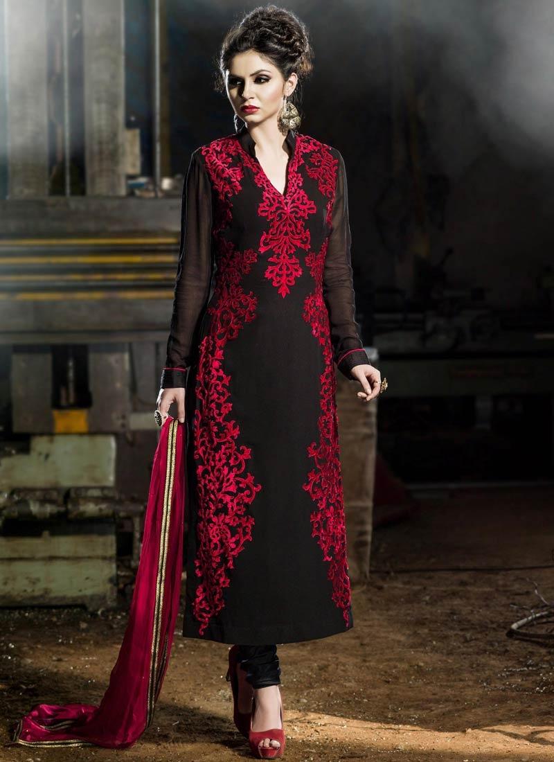 Dignified Black Color Designer Salwar Suit