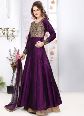 Dignified  Embroidered Work Long Length Anarkali Salwar Suit