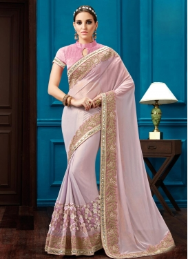 Dignified Faux Georgette Contemporary Style Saree