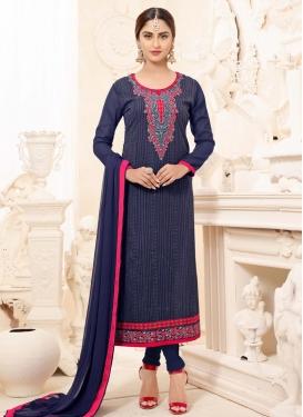 Dignified Faux Georgette Krystle Dsouza Pant Style Pakistani Salwar Suit
