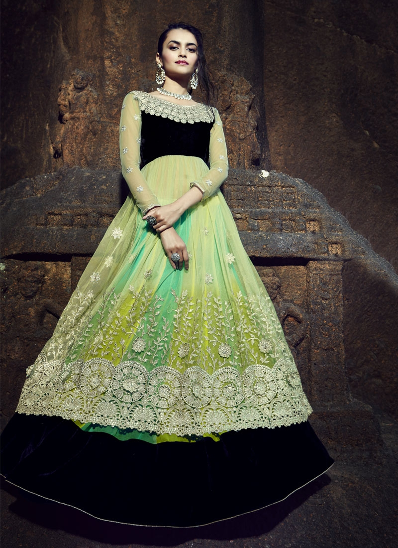 Dignified Patch Border And Stone Work Designer Lehenga Choli