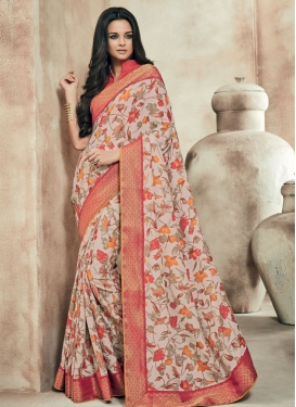 Dilettante Art Silk Lace Work Party Wear Saree
