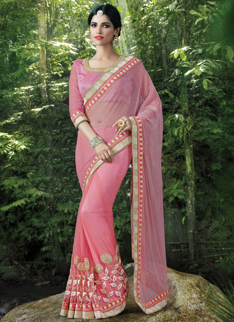 Dilettante Beads And Stone Work Designer Saree