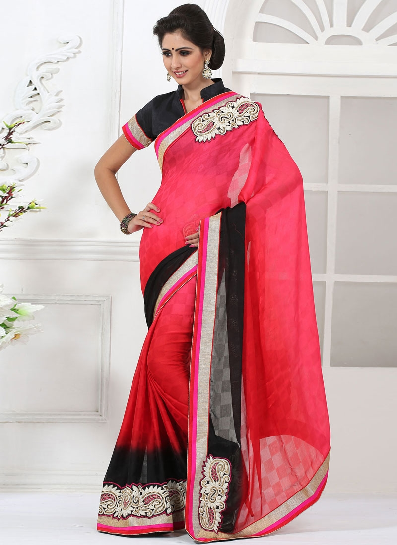 Dilettante Booti Work Party Wear Saree