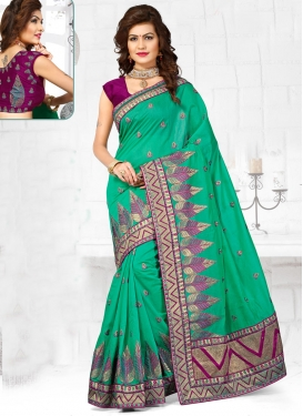 Dilettante Chanderi Silk Resham Work Designer Saree