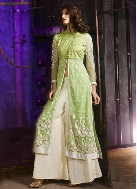 Dilettante Embroidery Work Palazzo Style Designer Salwar Suit