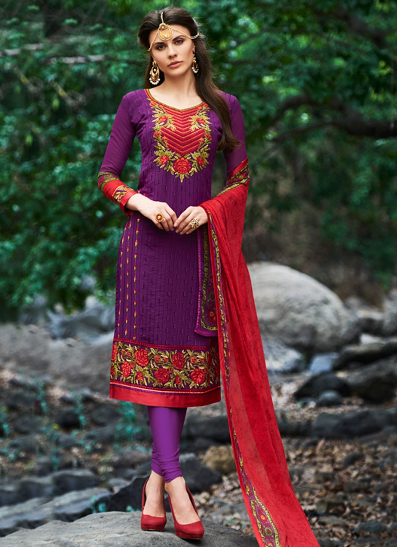 Dilettante Floral Work Party Wear Salwar Kameez