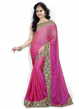 Dilettante Resham Enhanced Crepe Jacquard Party Wear Saree