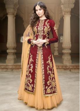 Dilettante Resham Work Banglori Silk Kameez Style Designer Lehenga Choli