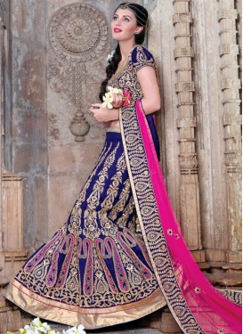 Dilettante Resham Work Silk Bridal Lehenga Choli