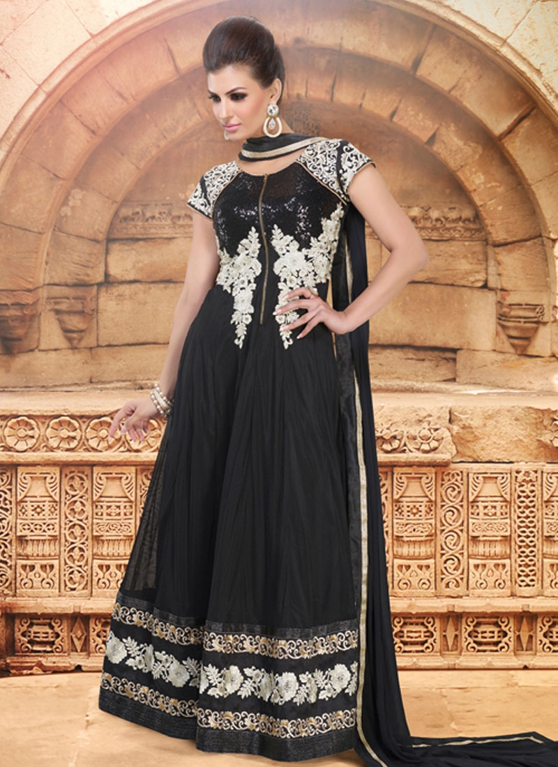 Dilettante Sequins Work Long Length Anarkali Suit