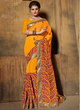 Dilettante Sequins Work Wedding Saree