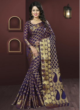 Distinctive  Art Silk Contemporary Saree