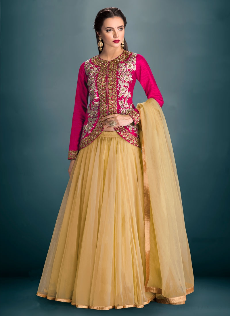 Distinctive Beads And Embroidery Work Party Wear Lehenga Choli
