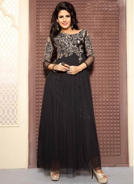 Distinctive Beads Work Designer Readymade Gown